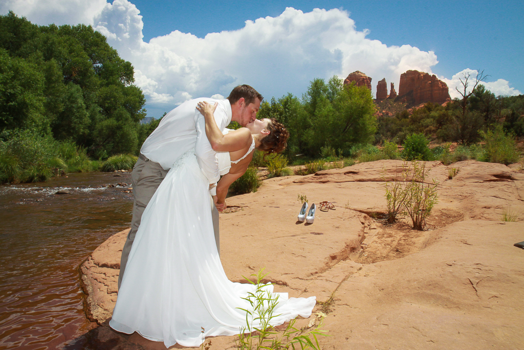 red rock crossing wedding sedona wedding photo