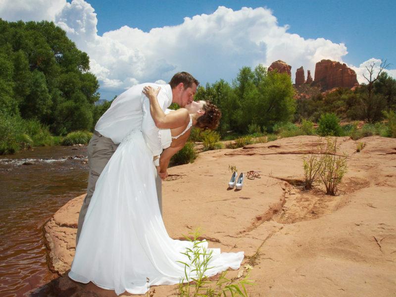 red rock crossing wedding sedona wedding photo