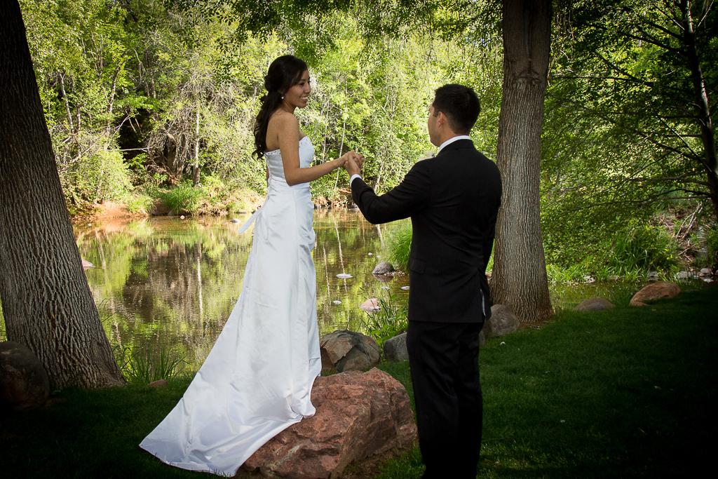 los abrigados wedding sedona wedding photo