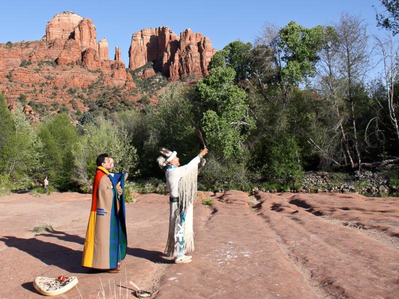 crescent moon ranch native american wedding ceremony Uqualla sedona wedding photo