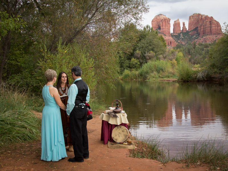 Red Rock Crossing Relecting Pool Sedona Wedding Location