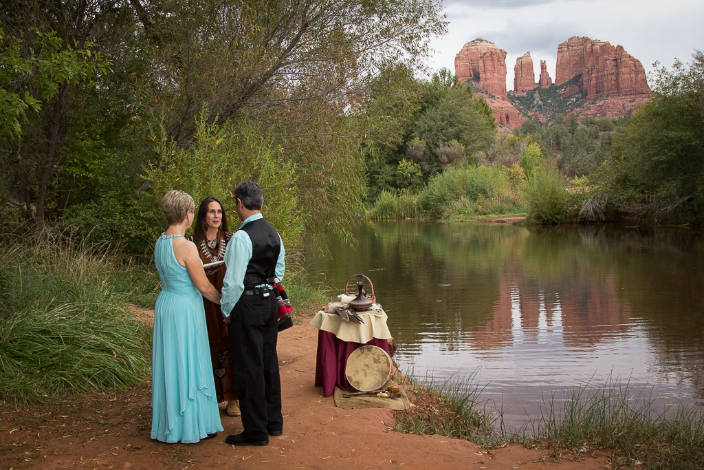 Red Rock Crossing Relecting Pool Sedona Wedding Location