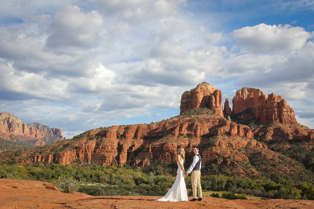 Secret Slick Rock Wedding Location in Sedona