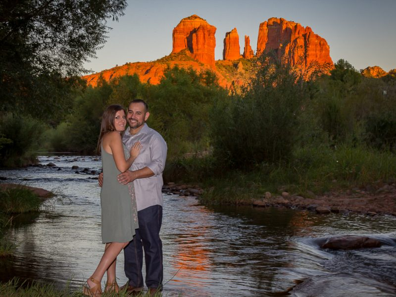 red rock crossing sedona engagement photos