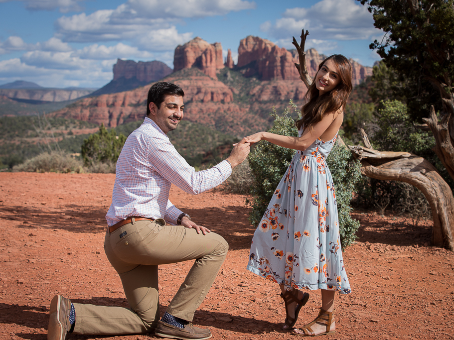 sedona wedding tree Knoll engagement